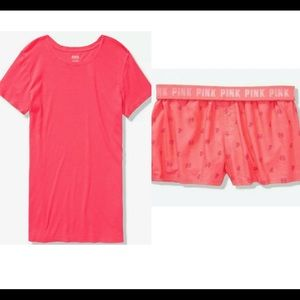 NWT VS PINK Boxy short set